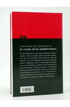 Contracubierta de CARVALHO GASTRONÓMICO 4. LA COCINA DE LOS MEDITERRÁNEOS (Manuel Vázquez Montalbán) Zeta 2008