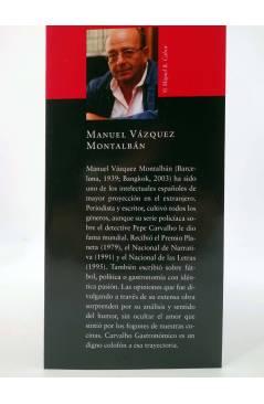 Muestra 1 de CARVALHO GASTRONÓMICO 4. LA COCINA DE LOS MEDITERRÁNEOS (Manuel Vázquez Montalbán) Zeta 2008