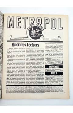 Muestra 1 de METROPOL 2. PAPELES URBANOS FALACES Y CRIMINALES (Vvaa) Metropol 1983