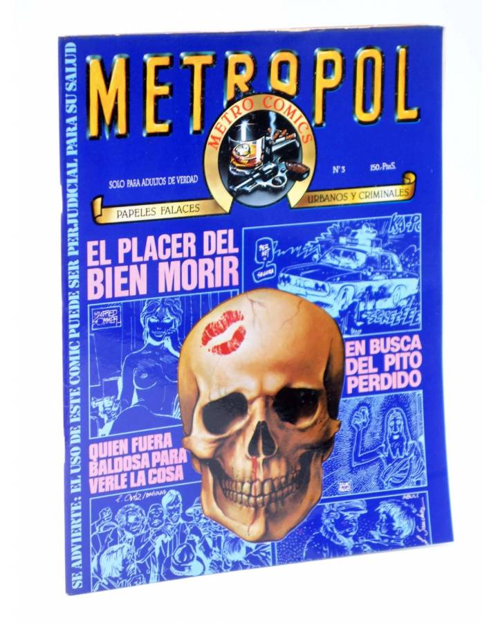 Cubierta de METROPOL 3. PAPELES URBANOS FALACES Y CRIMINALES (Vvaa) Metropol 1983