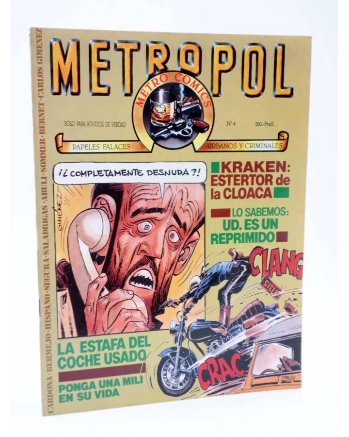 Cubierta de METROPOL 4. PAPELES URBANOS FALACES Y CRIMINALES (Vvaa) Metropol 1983