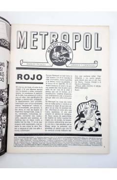 Muestra 1 de METROPOL 7. COMIC ROJO (Vvaa) Metropol 1984