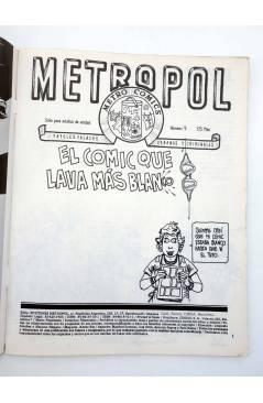 Muestra 1 de METROPOL 9. PAPELES URBANOS FALACES Y CRIMINALES (Vvaa) Metropol 1984