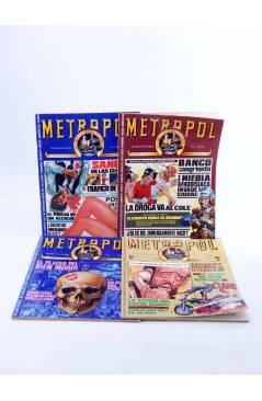 Contracubierta de METROPOL. PAPELES FALACES URBANOS Y CRIMINALES 1 A 12 COMPLETA (Vvaa) Metropol 1983