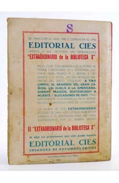 Contracubierta de BIBLIOTECA X. NOVELAS DE VAQUEROS 33. EL MEJICANO (Arizona) Cies 1945