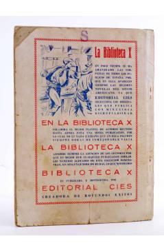 Contracubierta de BIBLIOTECA X. NOVELAS DE VAQUEROS 39. EL RENEGADO (E. Mediante) Cies 1946
