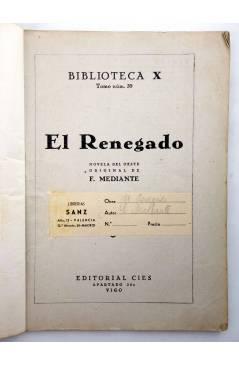 Muestra 2 de BIBLIOTECA X. NOVELAS DE VAQUEROS 39. EL RENEGADO (E. Mediante) Cies 1946