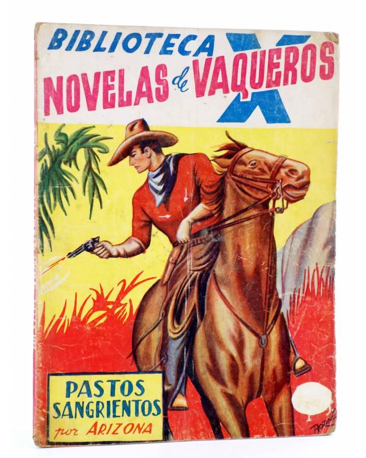 Cubierta de BIBLIOTECA X. NOVELAS DE VAQUEROS 40. PASTOS SANGRIENTOS (E. Mediante) Cies 1946