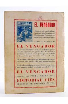 Contracubierta de BIBLIOTECA X. NOVELAS DE VAQUEROS 40. PASTOS SANGRIENTOS (E. Mediante) Cies 1946