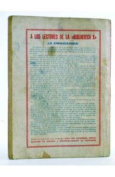 Contracubierta de BIBLIOTECA X. NOVELAS DE VAQUEROS 41. CUATREROS EN ACCIÓN (M.L. Estefanía) Cies 1946