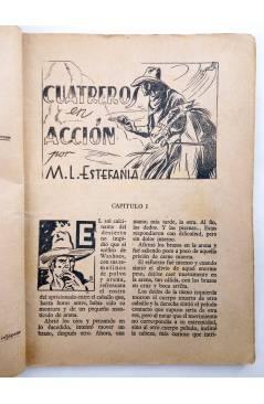 Muestra 2 de BIBLIOTECA X. NOVELAS DE VAQUEROS 41. CUATREROS EN ACCIÓN (M.L. Estefanía) Cies 1946