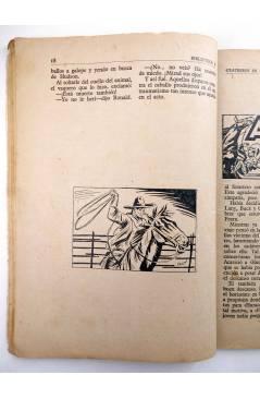Muestra 3 de BIBLIOTECA X. NOVELAS DE VAQUEROS 41. CUATREROS EN ACCIÓN (M.L. Estefanía) Cies 1946