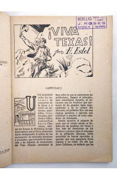 Muestra 1 de BIBLIOTECA X. NOVELAS DE VAQUEROS 43. VIVA TEXAS (H. Estol) Cies 1946