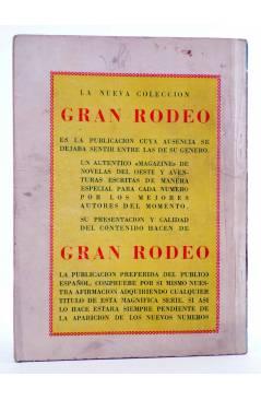 Contracubierta de BIBLIOTECA X. NOVELAS DE VAQUEROS 72. EL FANFARRÓN (H.A. Waytorn) Cies 1947