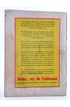 Contracubierta de BIBLIOTECA X. NOVELAS DE VAQUEROS 77. LA GRAN PATRONA (H.A. Waytorn) Cies 1947