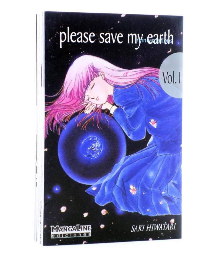 Cubierta de PLEASE SAVE MY EARTH. REINCARNATIONS 1 (Saki Hiwatari) Mangaline 2004