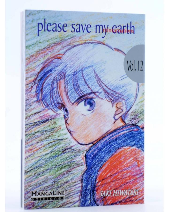 Cubierta de PLEASE SAVE MY EARTH. REINCARNATIONS 12 (Saki Hiwatari) Mangaline 2004