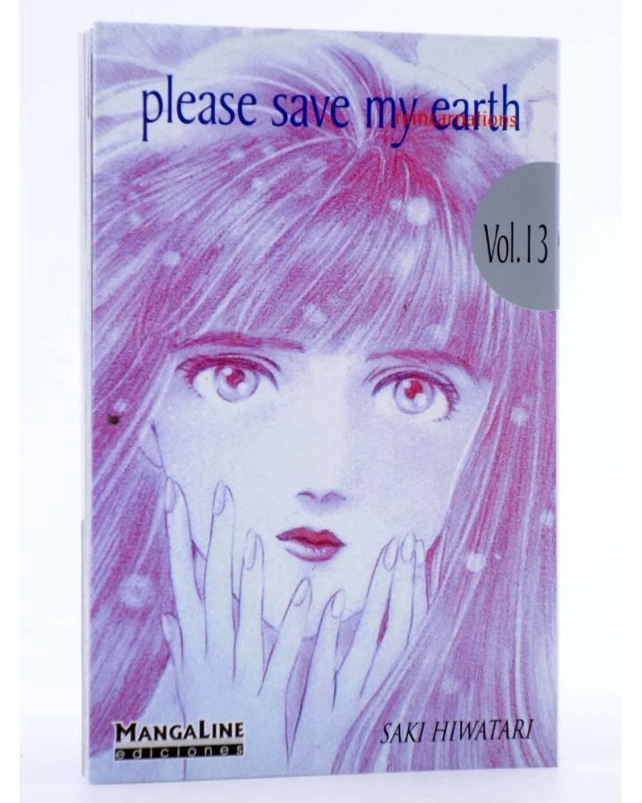 Cubierta de PLEASE SAVE MY EARTH. REINCARNATIONS 13 (Saki Hiwatari) Mangaline 2004