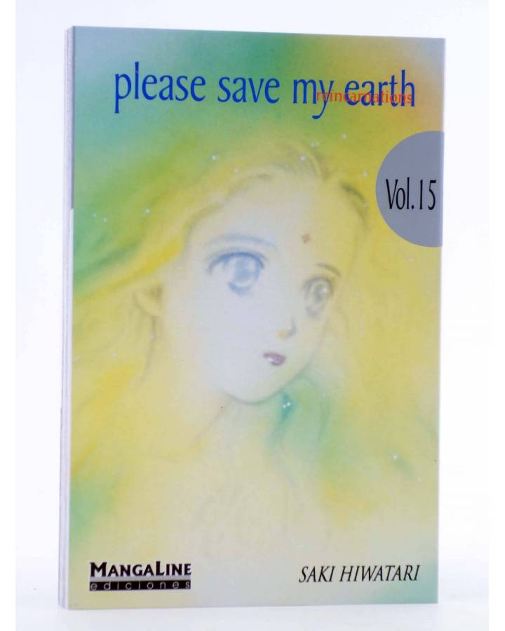 Cubierta de PLEASE SAVE MY EARTH. REINCARNATIONS 15 (Saki Hiwatari) Mangaline 2004