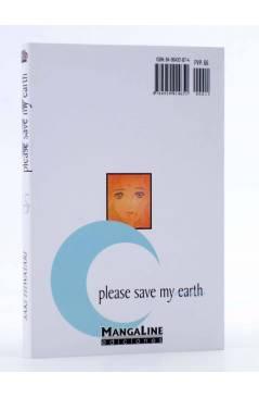 Contracubierta de PLEASE SAVE MY EARTH. REINCARNATIONS 15 (Saki Hiwatari) Mangaline 2004