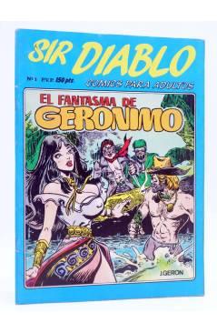 Cubierta de SIR DIABLO 1. EL FANTASMA DE GERÓNIMO (Vvaa) Ediprint 1983. COMICS PARA ADULTOS