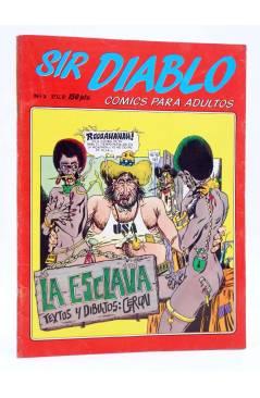 Cubierta de SIR DIABLO 2. LA ESCLAVA (Vvaa) Ediprint 1983. COMICS PARA ADULTOS
