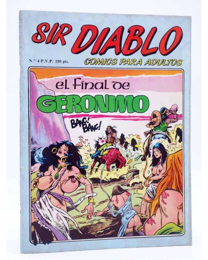 Cubierta de SIR DIABLO 4. EL FINAL DE GERÓNIMO (Vvaa) Ediprint 1983. COMICS PARA ADULTOS