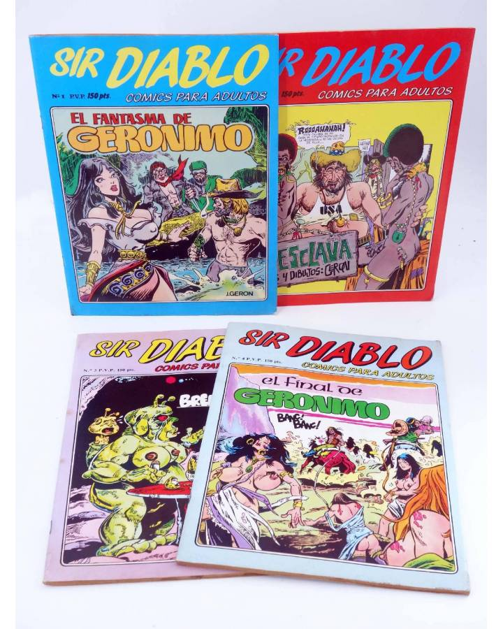 Cubierta de SIR DIABLO 1 A 4. COMPLETA (Vvaa) Ediprint 1983
