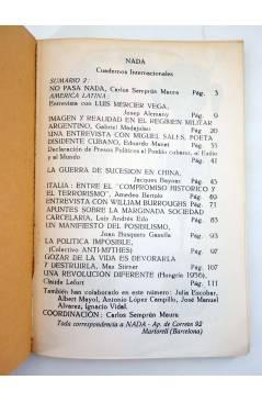 Muestra 1 de REVISTA NADA CUADERNOS INTERNACIONALES 2. PRIMAVERA 1979 (Vvaa) Nada 1979