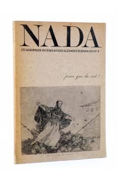 Cubierta de REVISTA NADA CUADERNOS INTERNACIONALES 3. ¿PARA QUÉ LA CNT? INVIERNO 1979 (Vvaa) Nada 1979