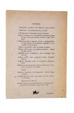 Contracubierta de REVISTA NADA CUADERNOS INTERNACIONALES 3. ¿PARA QUÉ LA CNT? INVIERNO 1979 (Vvaa) Nada 1979