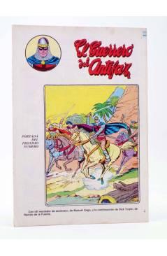 Contracubierta de EL GUERRERO DEL ANTIFAZ SERIE INÉDITA 21. UNA FAMILIA SINIESTRA (M. Gago) Valenciana 1984