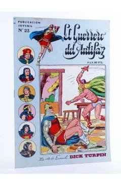 Cubierta de EL GUERRERO DEL ANTIFAZ SERIE INÉDITA 23. EL CAPITÁN BITESTA (M. Gago) Valenciana 1984