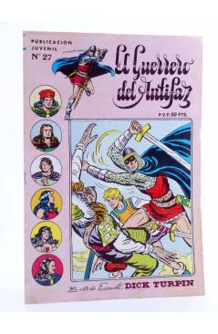 Cubierta de EL GUERRERO DEL ANTIFAZ SERIE INÉDITA 27. EL PIRATA TÁRTARO (M. Gago) Valenciana 1984