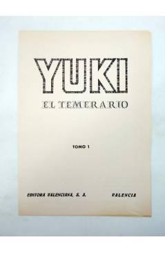 Muestra 4 de TAPAS ENCUADERNAR YUKI EL TEMERARIO TOMOS 1 Y 2. COMPLETA (González E Ibánez) Valenciana 1976