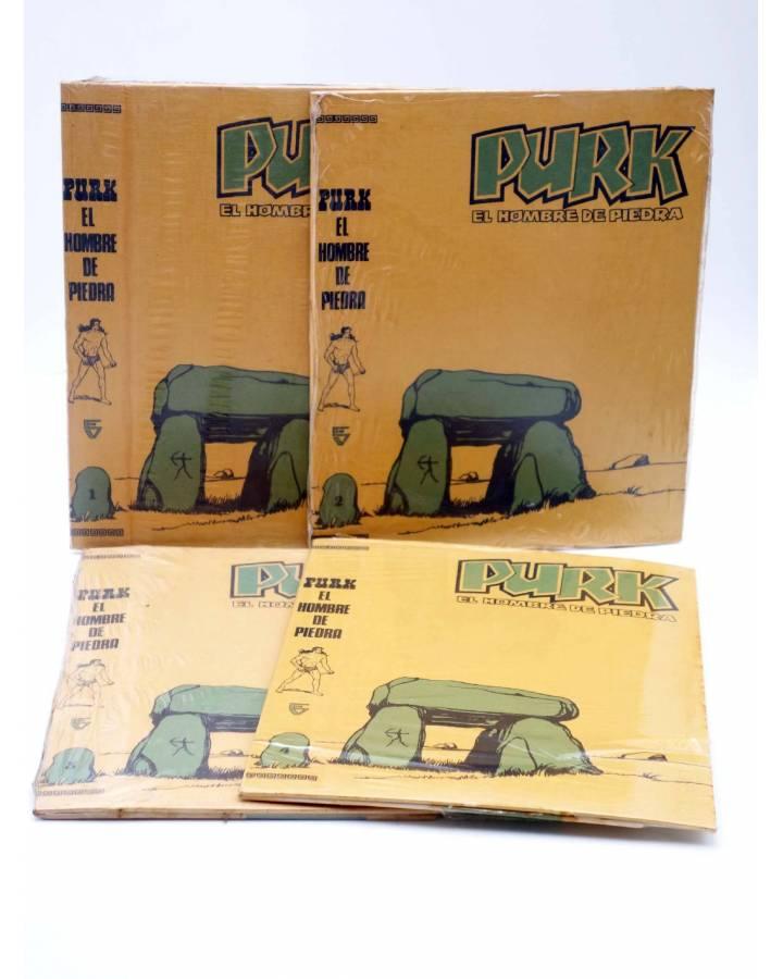 Cubierta de TAPAS PARA ENCUADERNAR PURK EL HOMBRE DE PIEDRA. LOTE 6 TAPAS (4+2) (M. Gago) Valenciana 1974