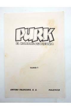 Muestra 4 de TAPAS PARA ENCUADERNAR PURK EL HOMBRE DE PIEDRA. LOTE 6 TAPAS (4+2) (M. Gago) Valenciana 1974