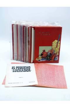 Contracubierta de TAPAS PARA ENCUADERNAR EL PEQUEÑO LUCHADOR TOMOS 1 A 9. COMPLETA (M. Gago) Valenciana 1977
