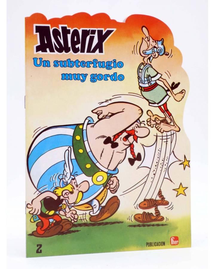 Cubierta de CUENTOS TROQUELADOS ASTERIX 2. UN SUBTERFUGIO MUY GORDO (Uderzo / Goscinny) Fher 1981