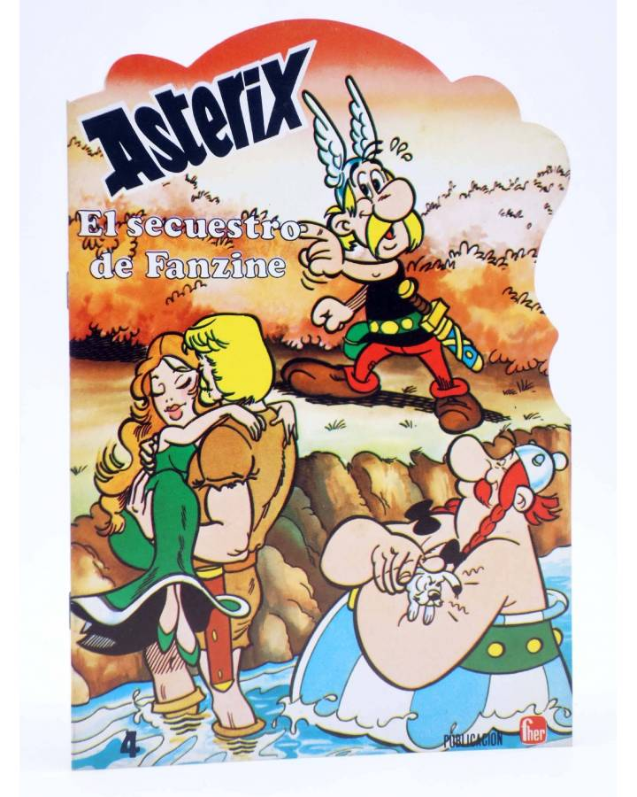 Cubierta de CUENTOS TROQUELADOS ASTERIX 4. EL SECUESTRO DE FANZINE (Uderzo / Goscinny) Fher 1981