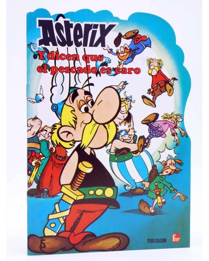 Cubierta de CUENTOS TROQUELADOS ASTERIX 5. Y DICEN QUE EL PESCADO ES CARO (Uderzo / Goscinny) Fher 1981