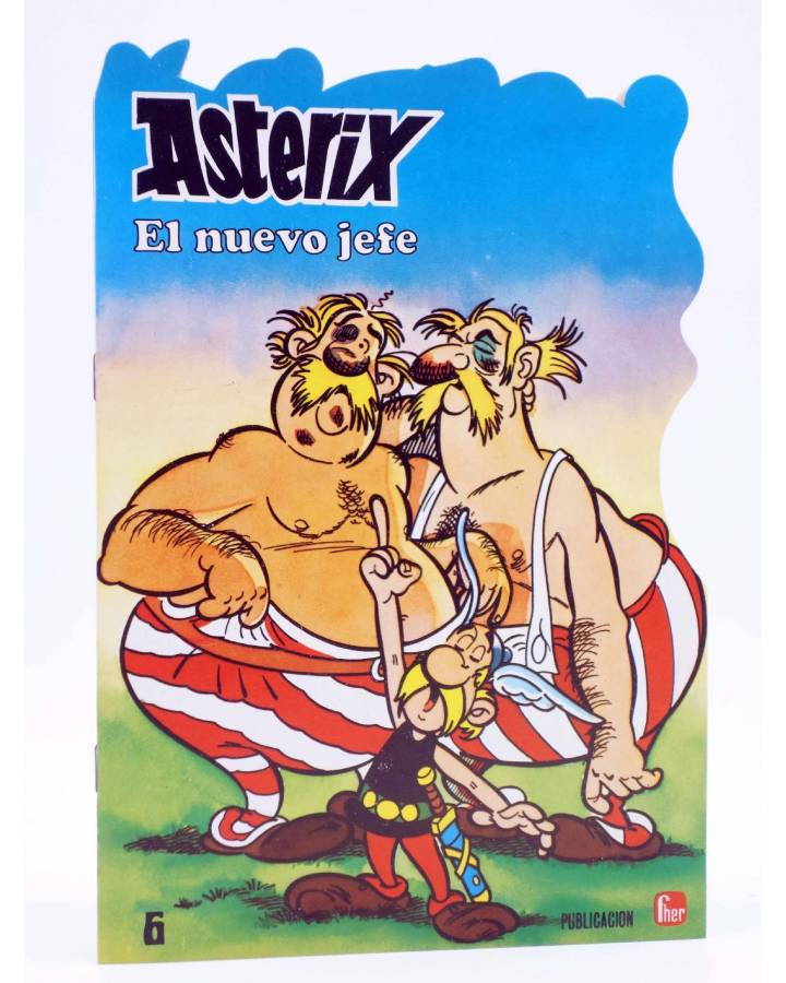 Cubierta de CUENTOS TROQUELADOS ASTERIX 6. EL NUEVO JEFE (Uderzo / Goscinny) Fher 1981