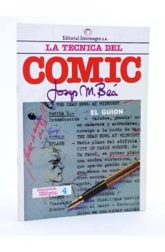 Cubierta de LA TÉCNICA DEL COMIC FASCÍCULO 4. EL GUIÓN (Josep Mª Beá) Intermagen 1985