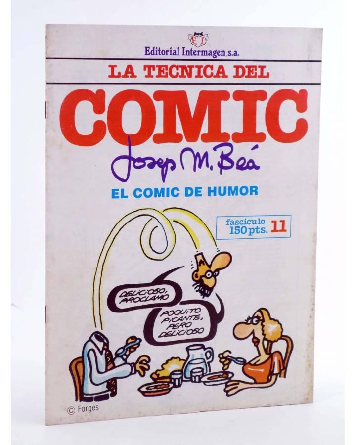 Cubierta de LA TÉCNICA DEL COMIC FASCÍCULO 11. EL CÓMIC DE HUMOR (Josep Mª Beá) Intermagen 1985