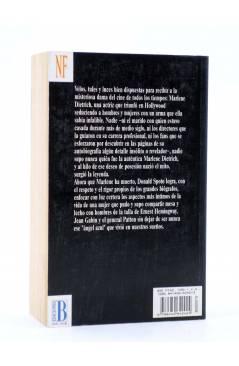 Contracubierta de MARLENE DIETRICH EL ÁNGEL AZUL (Donald Spoto) B 1994