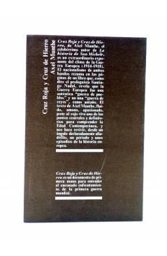 Contracubierta de CRUZ ROJA Y CRUZ DE HIERRO (Axel Munthe) Juventud 1973