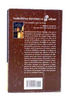 Contracubierta de LA VENGANZA DEL PORNÓGRAFO. JEREMIAH MOUNT VS SAMUEL PEPYS (Ferdinand Mount) Edhasa 2002