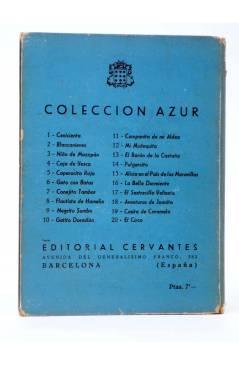 Contracubierta de COLECCIÓN AZUR 17. EL SASTRECILLO VALIENTE (J. Martí) Cervantes Circa 1950
