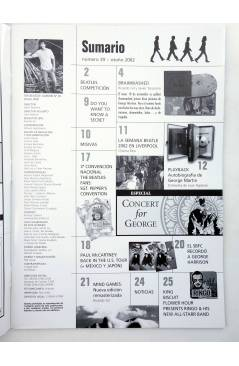 Muestra 1 de REVISTA THE BEATLES' GARDEN 39. OTOÑO 2002 (Vvaa) Sergeant Beatles Fan Club 2002