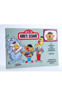 Cubierta de BLOQUE COLOR. CTW ÁBRETE SESAMO BARRIO SESAMO. Ediprint 1976. Pasatiempos actividades. VERDE